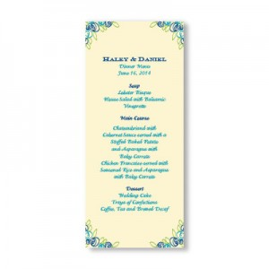 Colorful Cluster Menu Cards