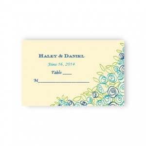Colorful Cluster Seating Cards