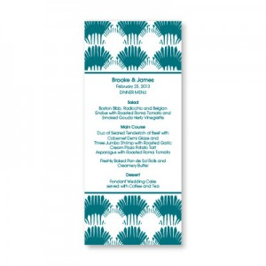 Wedding By the Sea Menu Cards