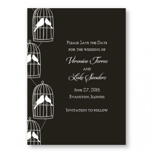 Loving Birds Save The Date Cards