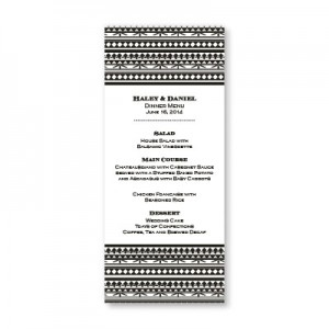 Rhapsody Menu Cards