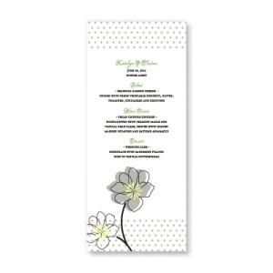Floral Banner Menu Cards