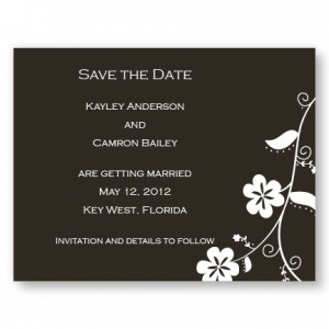 Hibiscus Save The Date Cards