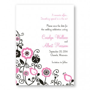 Floral Elegance Save The Date Cards