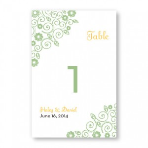 Wedding Bliss Table Cards