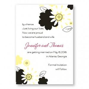 Flowers for the Bride Save The Date Cards