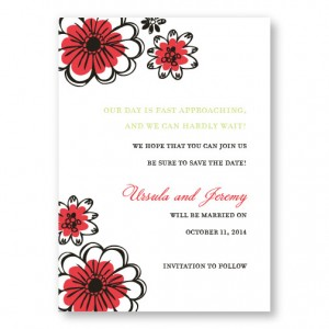 Love in Bloom Save The Date Cards