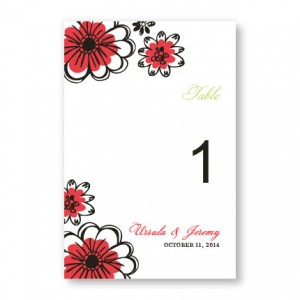Love in Bloom Table Cards