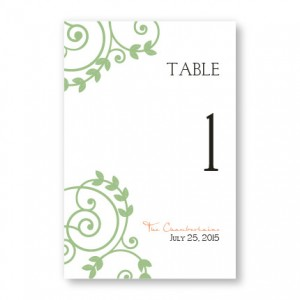 Symbol of Love Table Cards