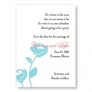 Roses are Forever Save The Date Cards