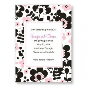 Flower Garden Save The Date Cards