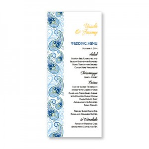 Paisley Charm Menu Cards