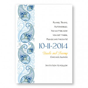 Paisley Charm Save The Date Cards