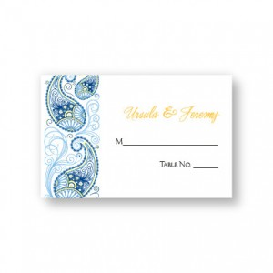 Paisley Charm Seating Cards