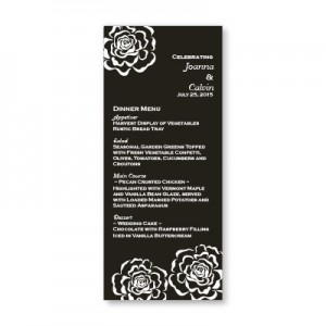 Bella Rose Menu Cards