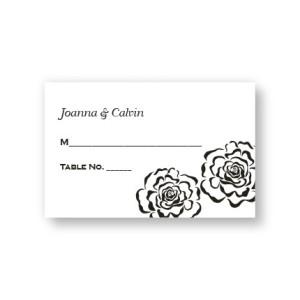 Bella Rose Seating Cards