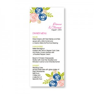 Touched with Roses Menu Cards