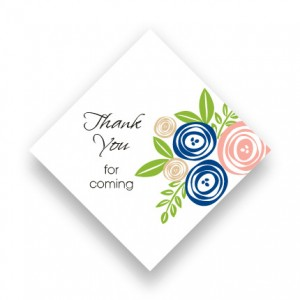 Touched with Roses Favor Tags