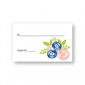 Touched with Roses Seating Cards
