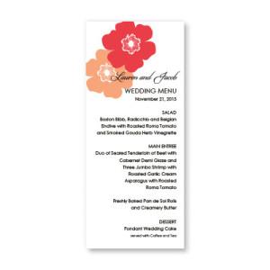 Matchless Beauty Menu Cards