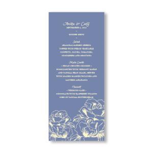 Blooming Roses Menu Cards