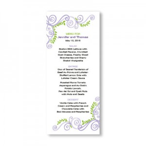 Radiant Vines Menu Cards