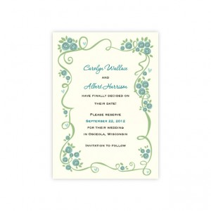 Dazzling Vine Save The Date Cards