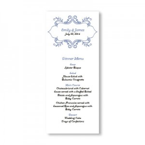 Ornamental Border Menu Cards