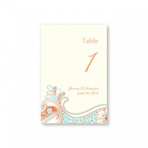 Paisley Perfection Table Cards