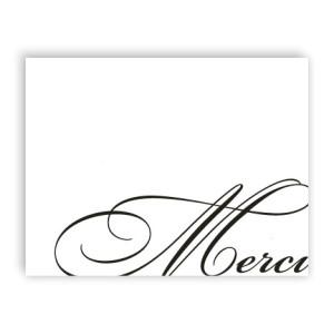 Merci Letterpress Thank  You Cards