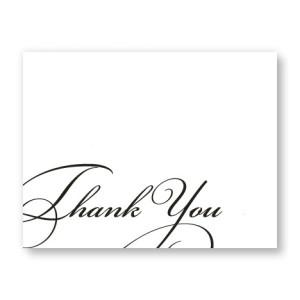 Script Letterpress Thank  You Cards