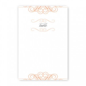 Amelia Table Cards