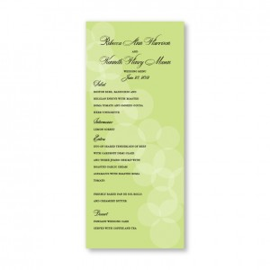 Sadie Menu Cards