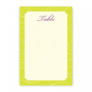 Reese Table Cards