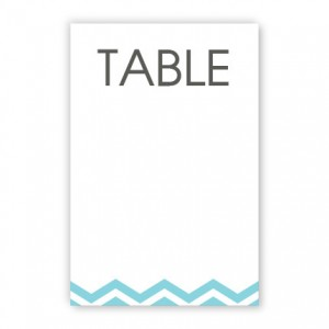 Charlie Table Cards