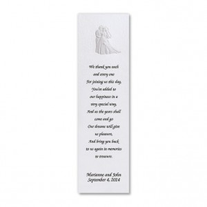 Bride and Groom Bookmarks
