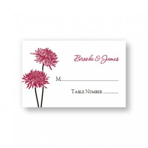 Floral Simplicity Seating Cards