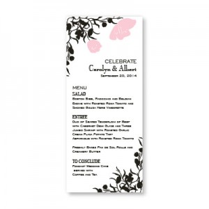 Romantic Petals Menu Cards