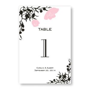 Romantic Petals Table Cards