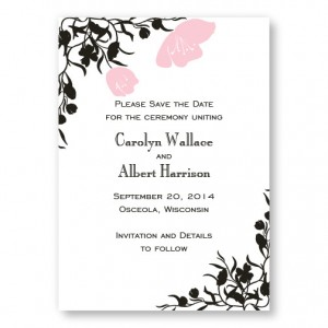 Romantic Petals Save The Date Cards