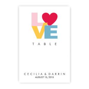 Sophia Table Cards