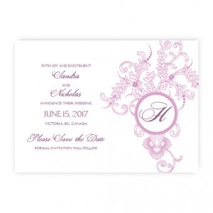 Circle Imprint II Save The Date Cards