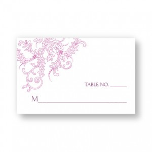 Circle Imprint II Seating Cards