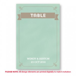Aurora Table Cards