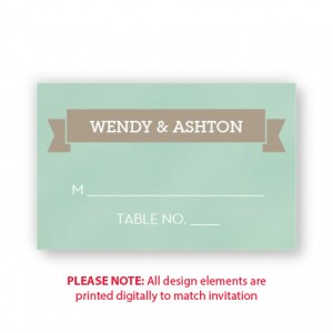 Aurora Seating Cards