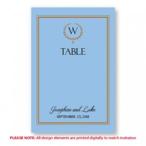 Elise Table Cards