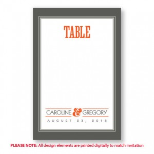 Ellen Table Cards