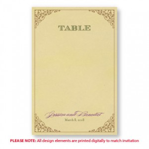 Melanie Table Cards