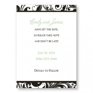 Fashion Swirls Save The Date Cards