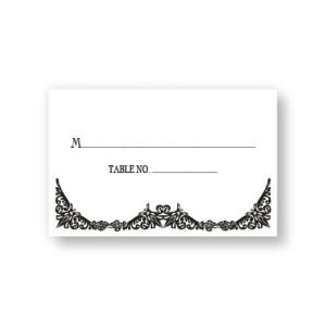 Elegantly Edged Seating Cards